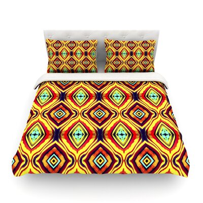 Diamond Light by Ann Barnes Featherweight Duvet Cover Size: Twin