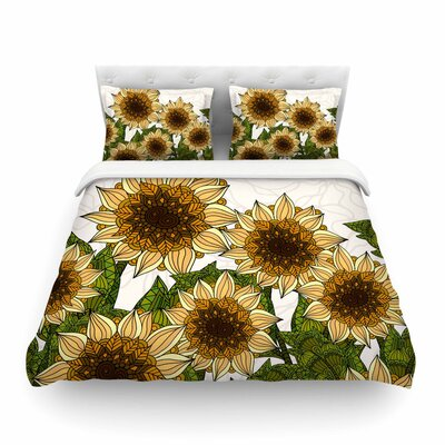 Sunflower Field by Art Love Passion Featherweight Duvet Cover Size: King