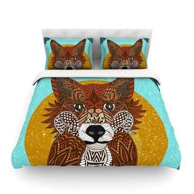 Colored Fox by Art Love Passion Featherweight Duvet Cover Size: Full/Queen