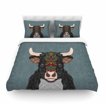 Steve The Bull Featherweight Duvet Cover Size: Twin