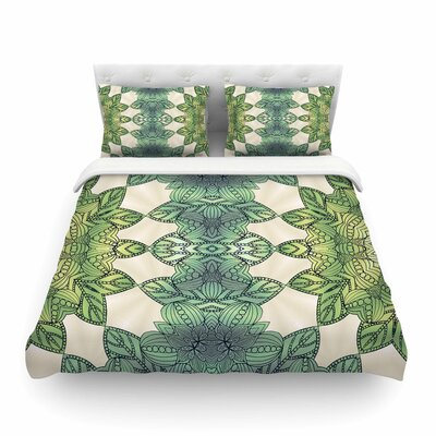 Forest Leaves Celtic Abstract by Art Love Passion Featherweight Duvet Cover Size: Twin