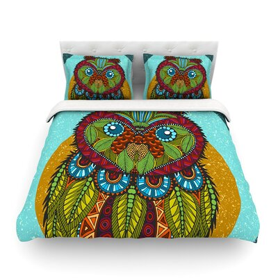Owl by Art Love Passion Featherweight Duvet Cover Size: King