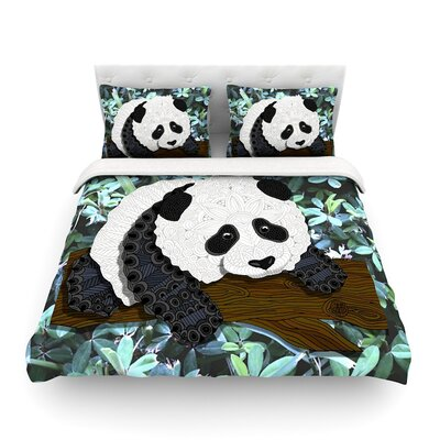 Panda by Art Love Passion Featherweight Duvet Cover Size: King