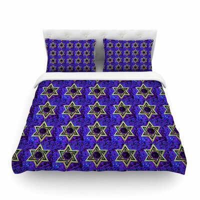 Davids Starry Sky! Pattern by Anne LaBrie Featherweight Duvet Cover Size: Full/Queen