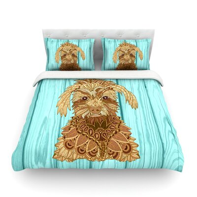 Gatsby the Great Brown Dog by Art Love Passion Featherweight Duvet Cover Size: Full/Queen