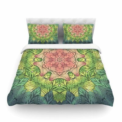 Celtic Flower Featherweight Duvet Cover Size: Full/Queen