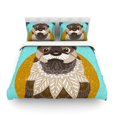 Otter in Water by Art Love Passion Featherweight Duvet Cover Size: Full/Queen
