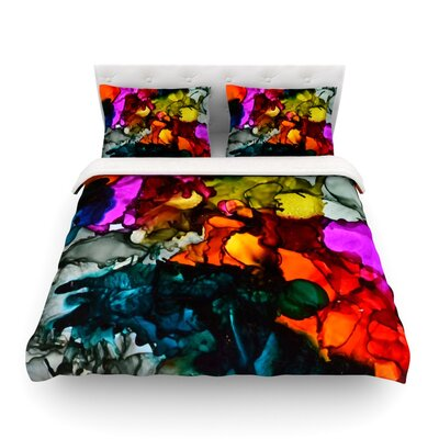 Hippie Love Child by Claire Day Featherweight Duvet Cover Size: Twin
