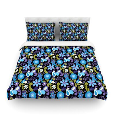 Florals by Carolyn Greifeld Featherweight Duvet Cover Size: Full/Queen