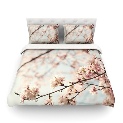 Japanese Cherry Blossom by Catherine McDonald Featherweight Duvet Cover Size: King