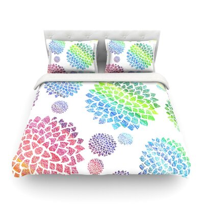 Feel the Rainbow by Catherine Holcombe Featherweight Duvet Cover Size: Full/Queen