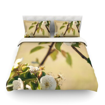 Pear Blossom by Catherine McDonald Featherweight Duvet Cover Size: Full/Queen