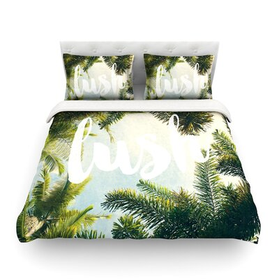 Lush Nature Typography by Catherine McDonald Featherweight Duvet Cover Size: Full/Queen
