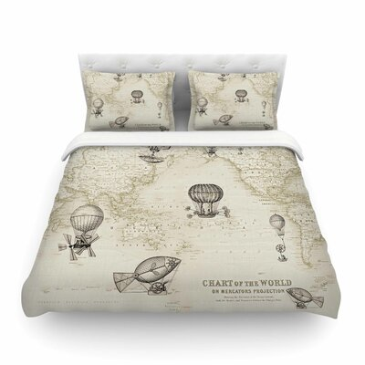 The Southern Route by Catherine Holcombe Featherweight Duvet Cover Size: Twin