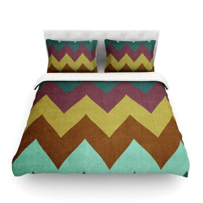Mountain High Art Object by Catherine McDonald Featherweight Duvet Cover Size: King
