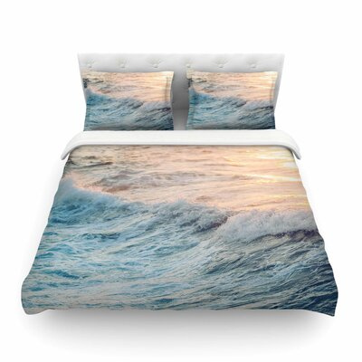Sherbert Ocean Nature by Chelsea Victoria Featherweight Duvet Cover Size: Twin