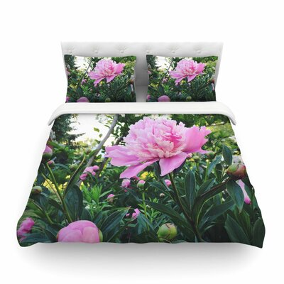 Peonies Floral by Chelsea Victoria Featherweight Duvet Cover Size: Twin
