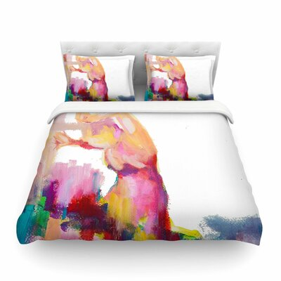 Espana Magenta Painting by Cecibd Featherweight Duvet Cover Size: Twin