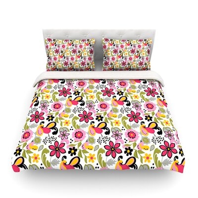 Pretty Florals by Carolyn Greifeld Featherweight Duvet Cover Size: King