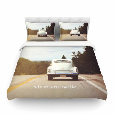 Adventure Awaits by Angie Turner Featherweight Duvet Cover Size: Full/Queen