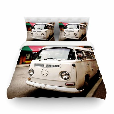 VW Bus Vintage by Angie Turner Featherweight Duvet Cover Size: Full/Queen