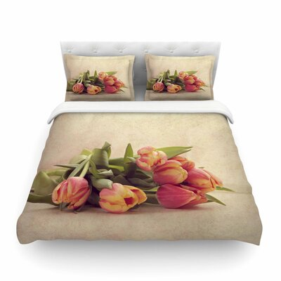 Delicate Spring Photography Featherweight Duvet Cover Size: King