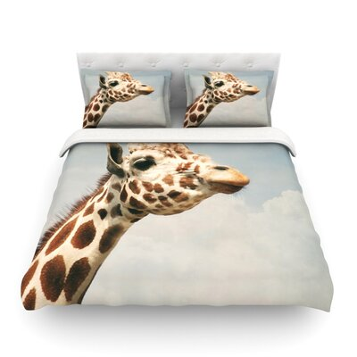 Giraffe Animal by Angie Turner Featherweight Duvet Cover Size: Twin