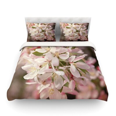 Apple Blossoms Pink Flower by Angie Turner Featherweight Duvet Cover Size: Full/Queen