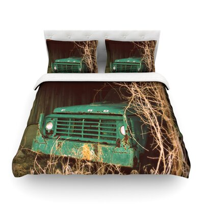 Ford Teal Car by Angie Turner Featherweight Duvet Cover Size: King