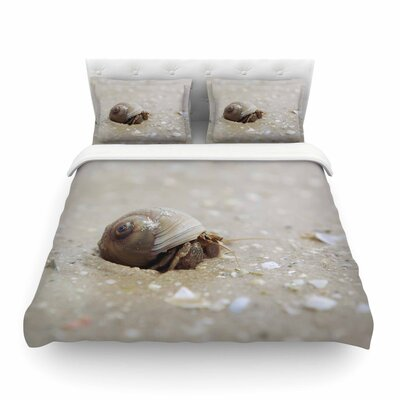 Hermit Crab Photography by Angie Turner Featherweight Duvet Cover Size: Full/Queen