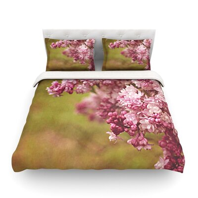 Lilacs Flower by Angie Turner Featherweight Duvet Cover Size: Twin