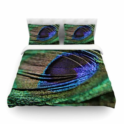 Peacock Feather by Angie Turner Featherweight Duvet Cover Size: Twin