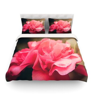 Camelia Pink Flower by Angie Turner Featherweight Duvet Cover Size: Full/Queen