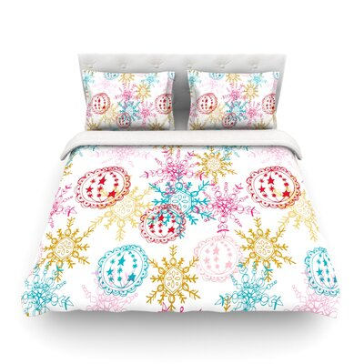 Let it Snow Featherweight Duvet Cover Size: Twin