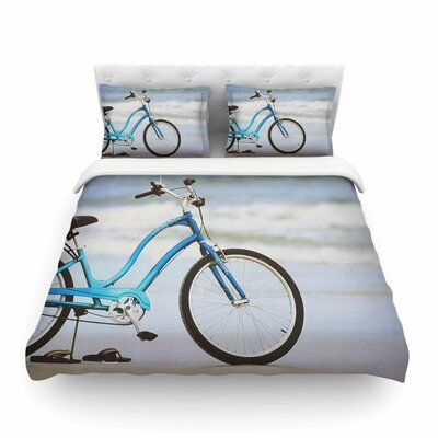 Beach Bike by Angie Turner Featherweight Duvet Cover Size: Twin