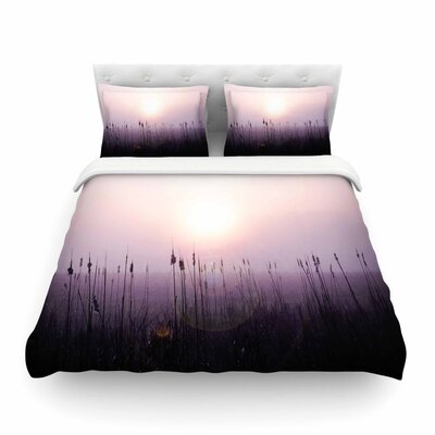 Sunrise Cattails by Angie Turner Featherweight Duvet Cover Size: Twin