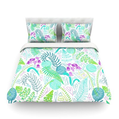 Fern Forest by Anneline Sophia Featherweight Duvet Cover Size: Full/Queen