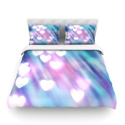 Your Love is Sweet Like Candy Heart by Beth Engel Featherweight Duvet Cover Size: King