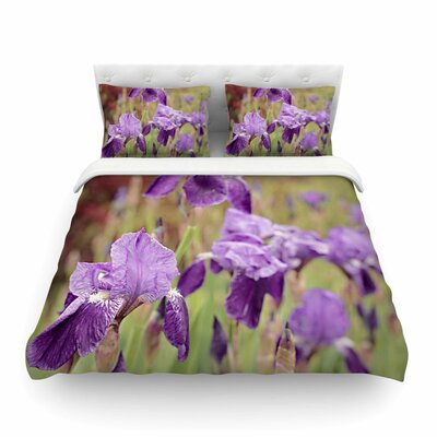 Irises Floral Featherweight Duvet Cover Size: Full/Queen