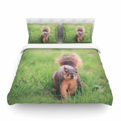 Squirrel Brown Animals Featherweight Duvet Cover Size: Twin