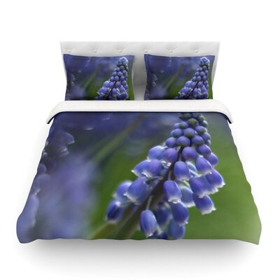 Grape Hyacinth by Angie Turner Featherweight Duvet Cover Size: King