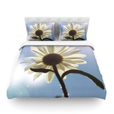Daisy Bottom Sky Flower by Angie Turner Featherweight Duvet Cover Size: Full/Queen