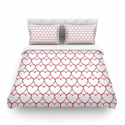 Soulmates Red Love by Anneline Sophia Featherweight Duvet Cover Size: King