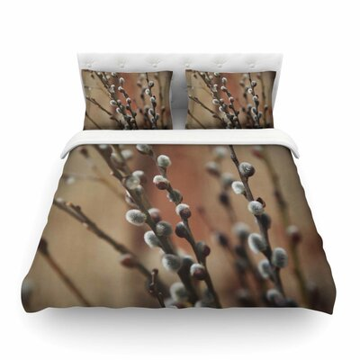 Pussy Willows by Angie Turner Featherweight Duvet Cover Size: Twin