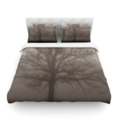 Lonely Tree Dark Fog by Angie Turner Featherweight Duvet Cover Size: King