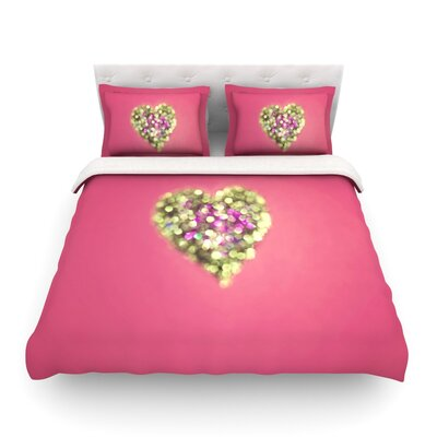 Make Your Love Sparkle by Beth Engel Featherweight Duvet Cover Size: Twin