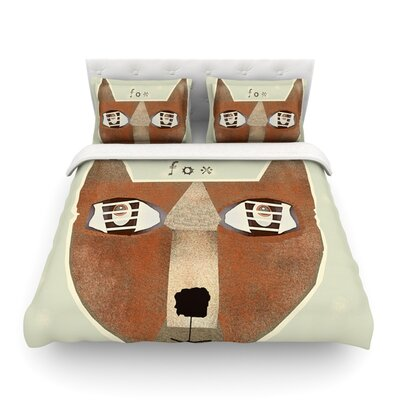 Fox Face by Bri Buckley Featherweight Duvet Cover Size: King