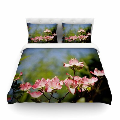 Dogwood Digital Floral by Angie Turner Featherweight Duvet Cover Size: Full/Queen