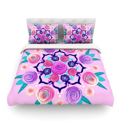 Expressive Blooms Mandala Floral by Anneline Sophia Featherweight Duvet Cover Size: King