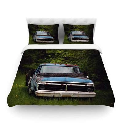 Old Ford Truck Digital by Angie Turner Featherweight Duvet Cover Size: King